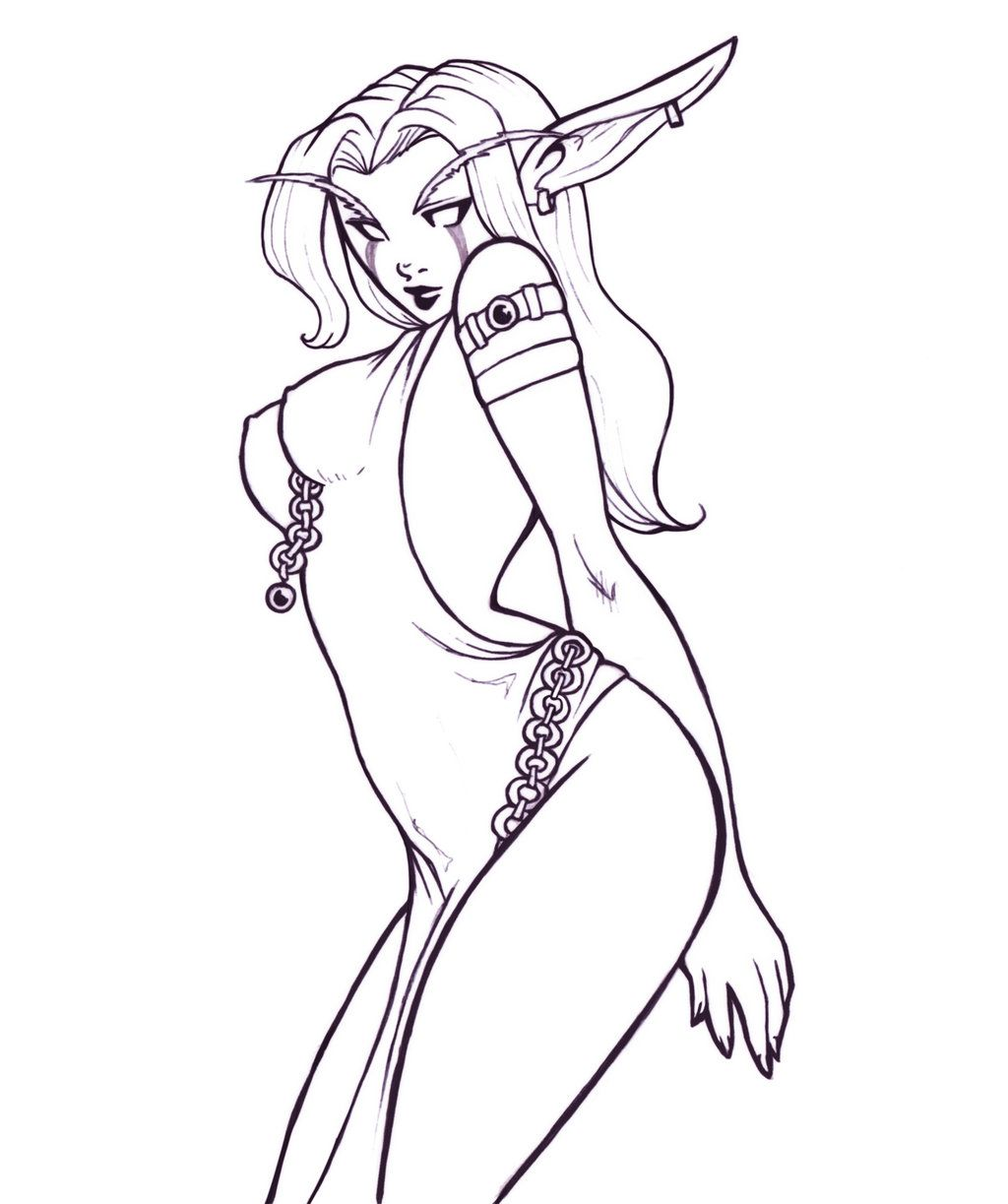 Sexy Elf Drawing