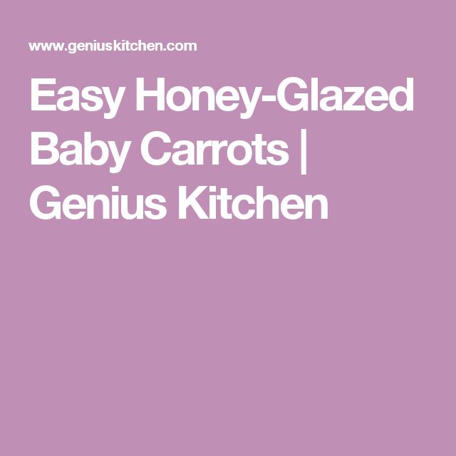 Easy Honey-Glazed Baby Carrots | Genius Kitchen