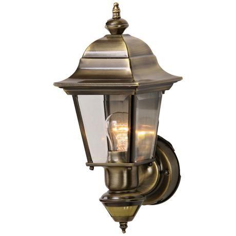 Artisan Antique Brass Energy Star Outdoor Wall Light Lampsplus Com Wall Lights Lamp Brass Lighting