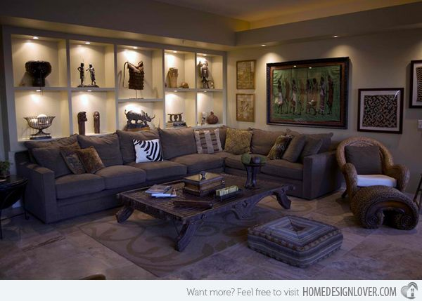 Marvelous 17 Awesome African Living Room Decor | Home Design Lover