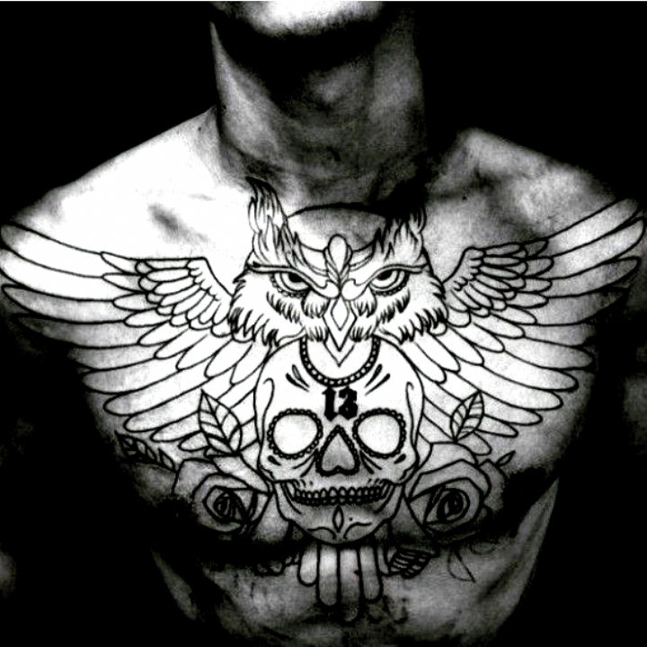 6 Doubts About Owl Chest Tattoo Male You Should Clarify In 2020 Owl Tattoo Chest Chest Piece Tattoos Tattoo Designs Men
