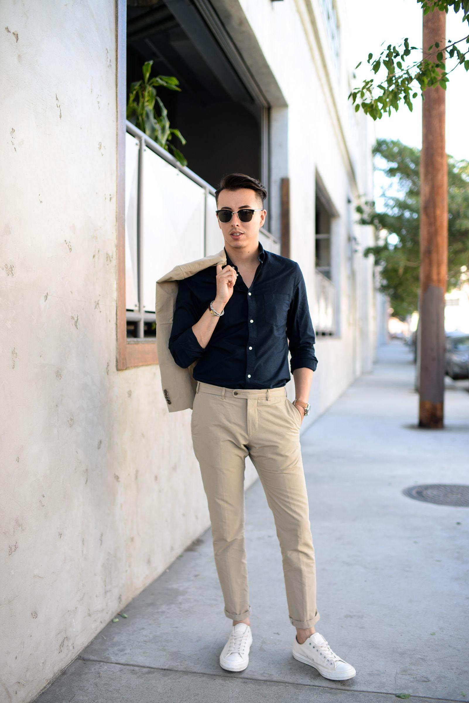 Khaki pants outfit men, Mens outfits