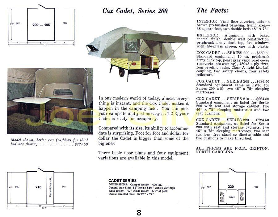 Pop Up Camper History Pop Up Camper Tent Trailer Truck Bed Storage