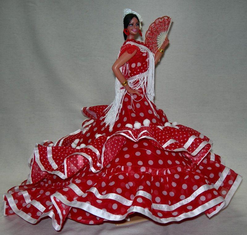 Legs Maria De La O Spanish Flamenco Doll Red Dress With White Polka #spanishdolls