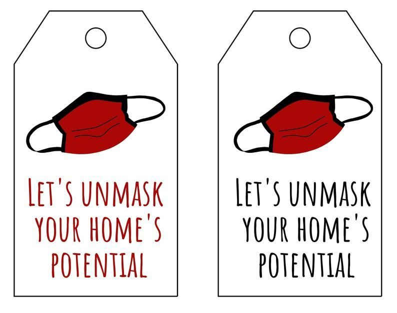 INSTANT DOWNLOAD Realtor Mask Gift, Fall Pop by Pr