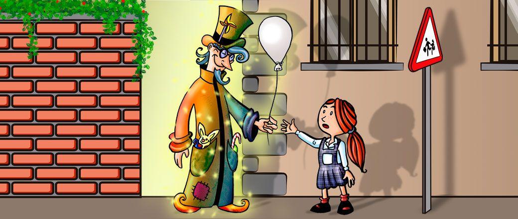 Children book color illustration according to script