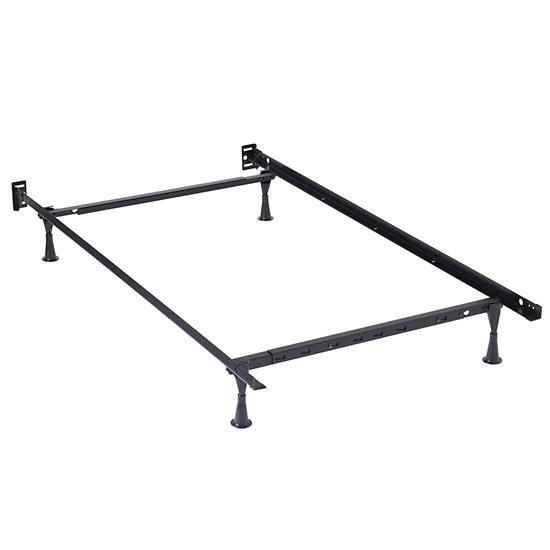 mias bed twinfull metal bed frame the land of nod - Metal Toddler Bed Frame