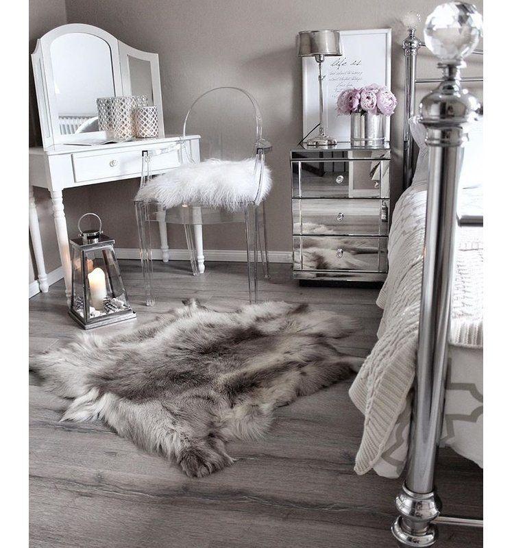 Sellar Reindeer Hide Light Grey Rug Office Style In 2019