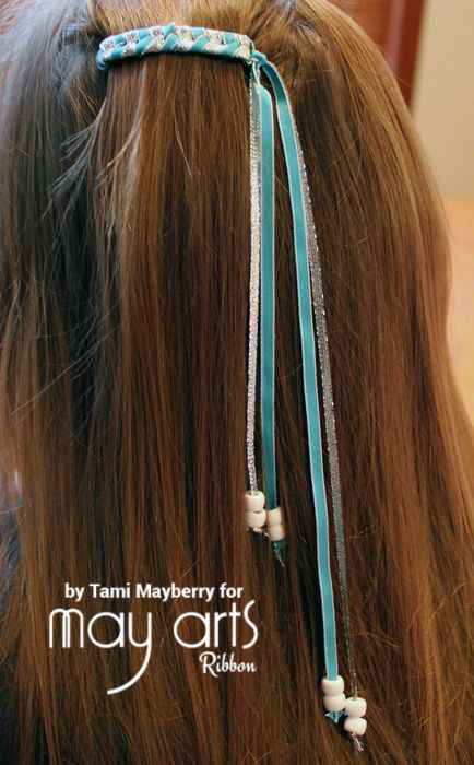 80 S Braided Ribbon Barrettes Ribbon Resource Online Ribbon Barrettes Ribbon Hair Clips Ribbon Braids