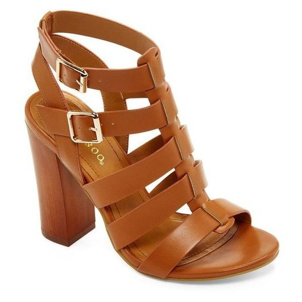 Bamboo Embark Chunky Gladiator Sandals ❤ liked on Polyvore featuring shoes,  sandals, strappy sandals