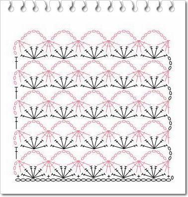 Pontos de croche diagrama 4 - CROCHE COM RECEITAS