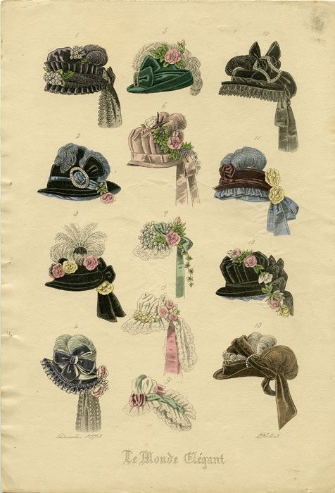Hand colored engraving from Le Monde Elegant. December 1873. Plate 5 by HATS - 1870s on #victorian