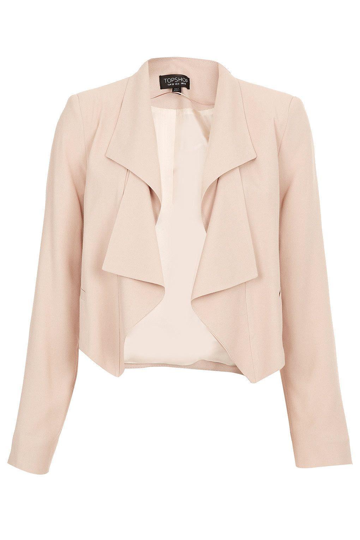 Folded Lapel Crop Jacket - New In This Week TOPSHOP