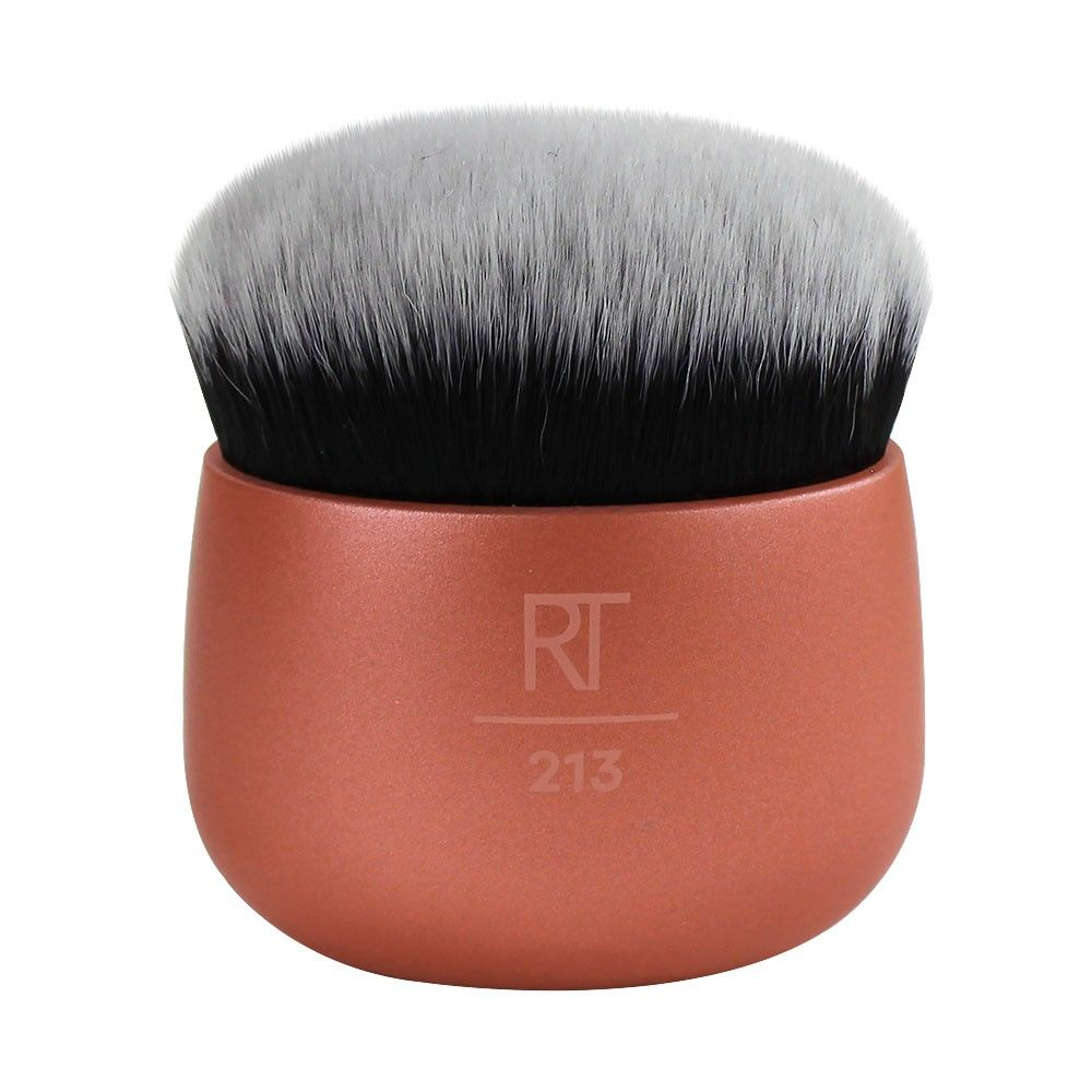 Real Techniques Mini Travel Size Multitask Makeup Brush for Blush Bronzer or Highlighter Packaging and Handle Colour May Vary
