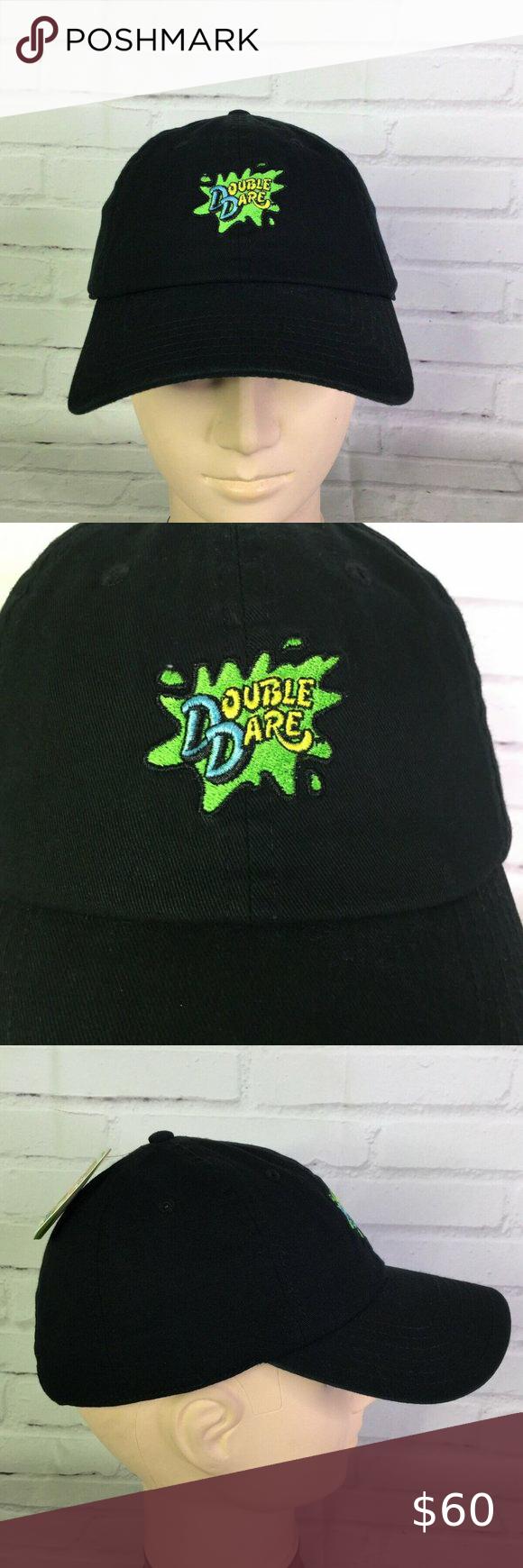 Nickelodeon Double Dare Logo Strapback Hat Cap New Strapback Hats Double Dare Fashion