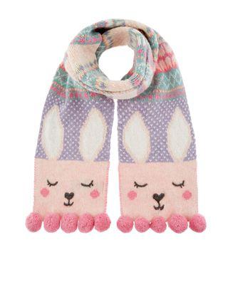 tricote dans un motif intarsia en jacquard notre confortable charpe lapin rosie pour fille arbore - Hakelmutzen Muster
