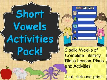 No Prep! 52 pages! And you won't have to write lesson plans for 2 weeks!!! Just print the lessons and meaningful activities (a few mini samples are shown)! This bundle includes 2 solid weeks of complete formal literacy block lesson plans and activities!