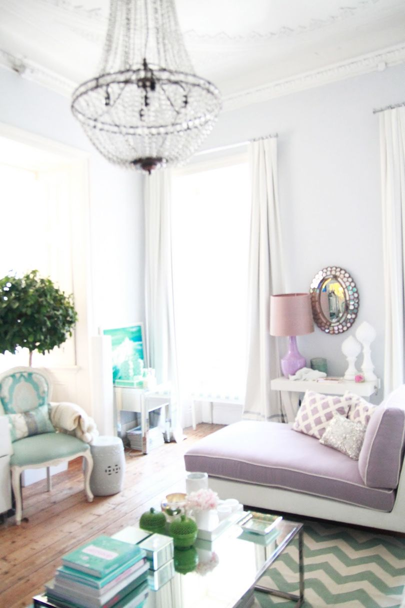 Grace - Purple & Turquoise; Gray Purple Turquoise Living Room Smart ...