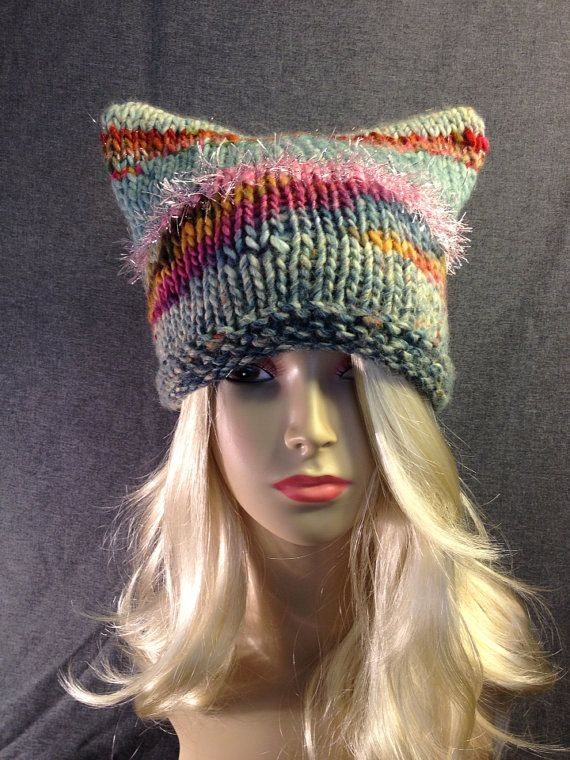 Multi Colored Kitty Ear Hat FREE SHIPPING