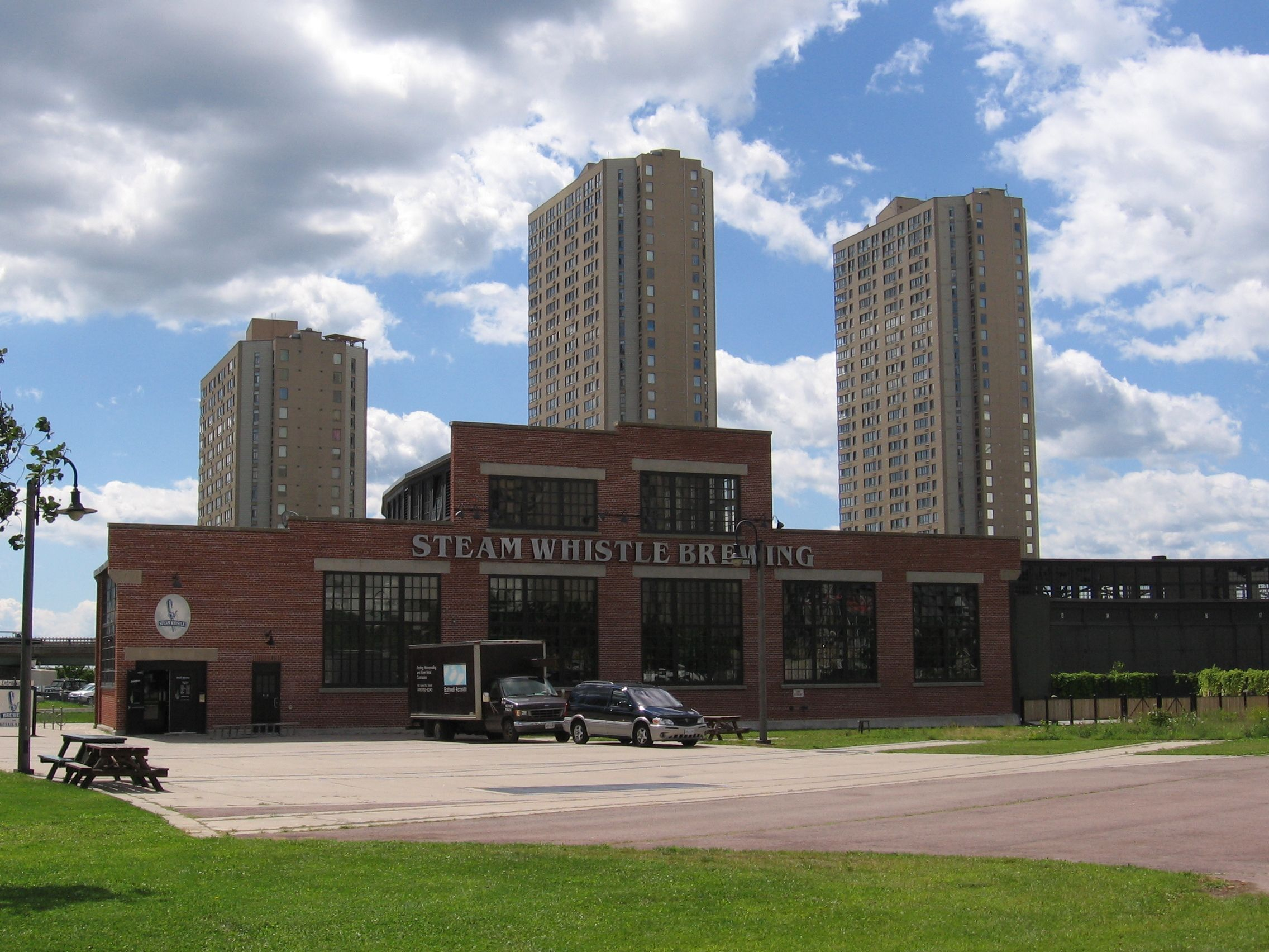 Steam Whistle Brewery, Toronto, Ontario - across from the Rogers Centre.