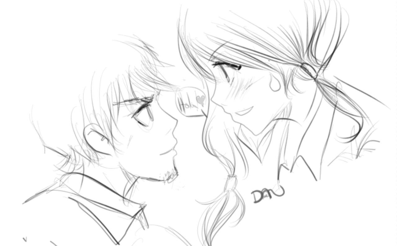Anime shy girl with boy drawing google search