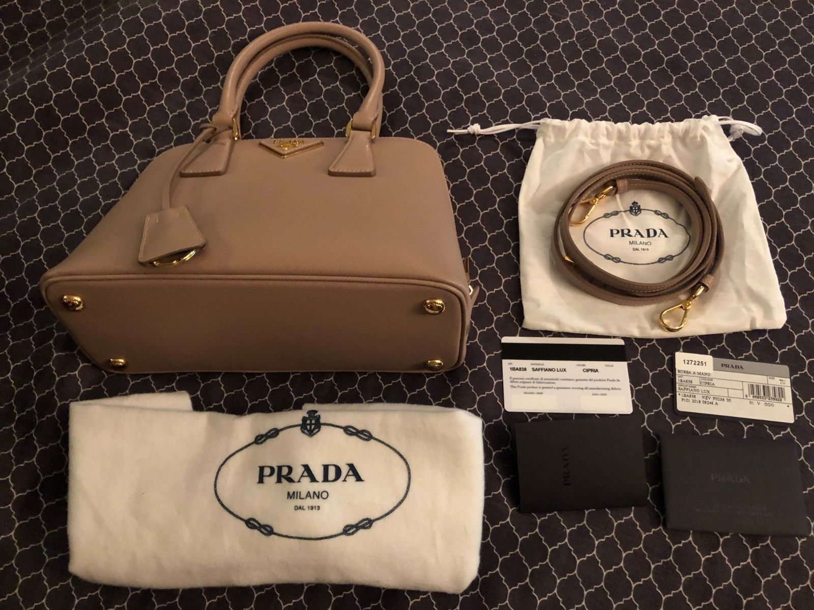 941303c5e633 Prada Lux Saffiano Leather Tote 1BA838 - Cipria /LIKE- CONDITION ...