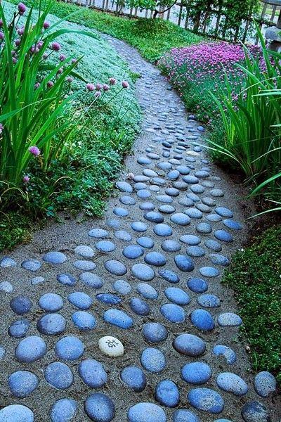 Garden Pathway Set In Stone