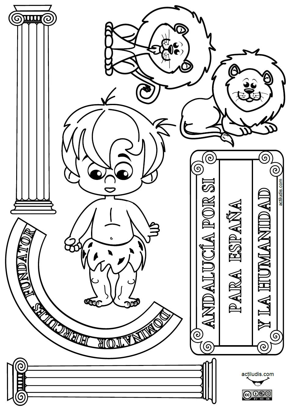 dia de andalucia para colorear Escudo Andaluc a Dibujo 159x225 ...