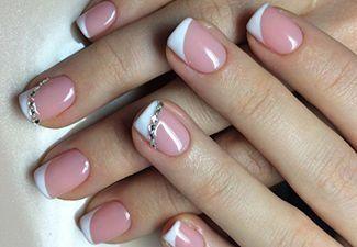 Гелевые ногти френч 8
