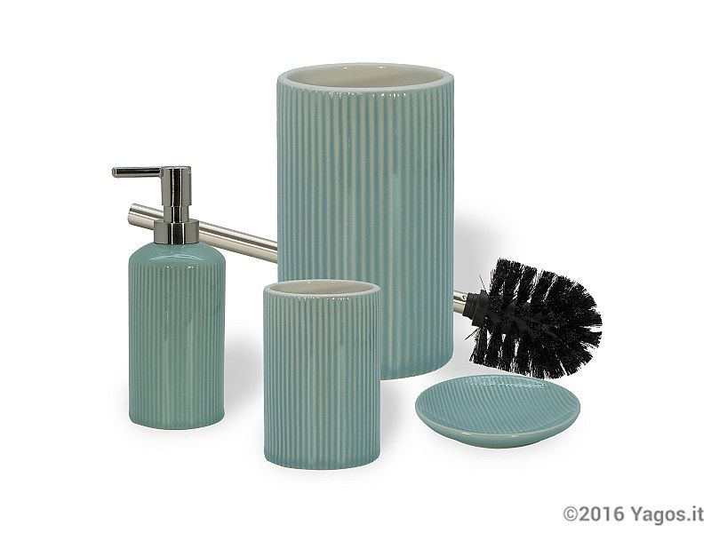 Accessori bagno da appoggio ceramica sabina acquamarina