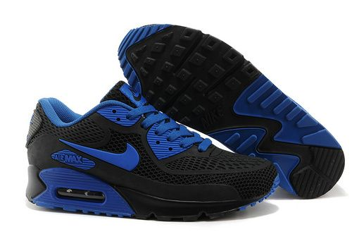 innovative design 15970 13092 Mens Nike Air Max 90 A Plastic Shoes Black Blueonly US89.00
