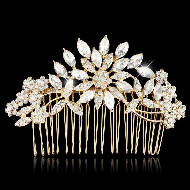amazon: ever faith® bridal flower snowflake hair comb
