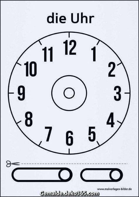 Uhr Vorlage zum Drucken   Clock template, Printed clocks ...
