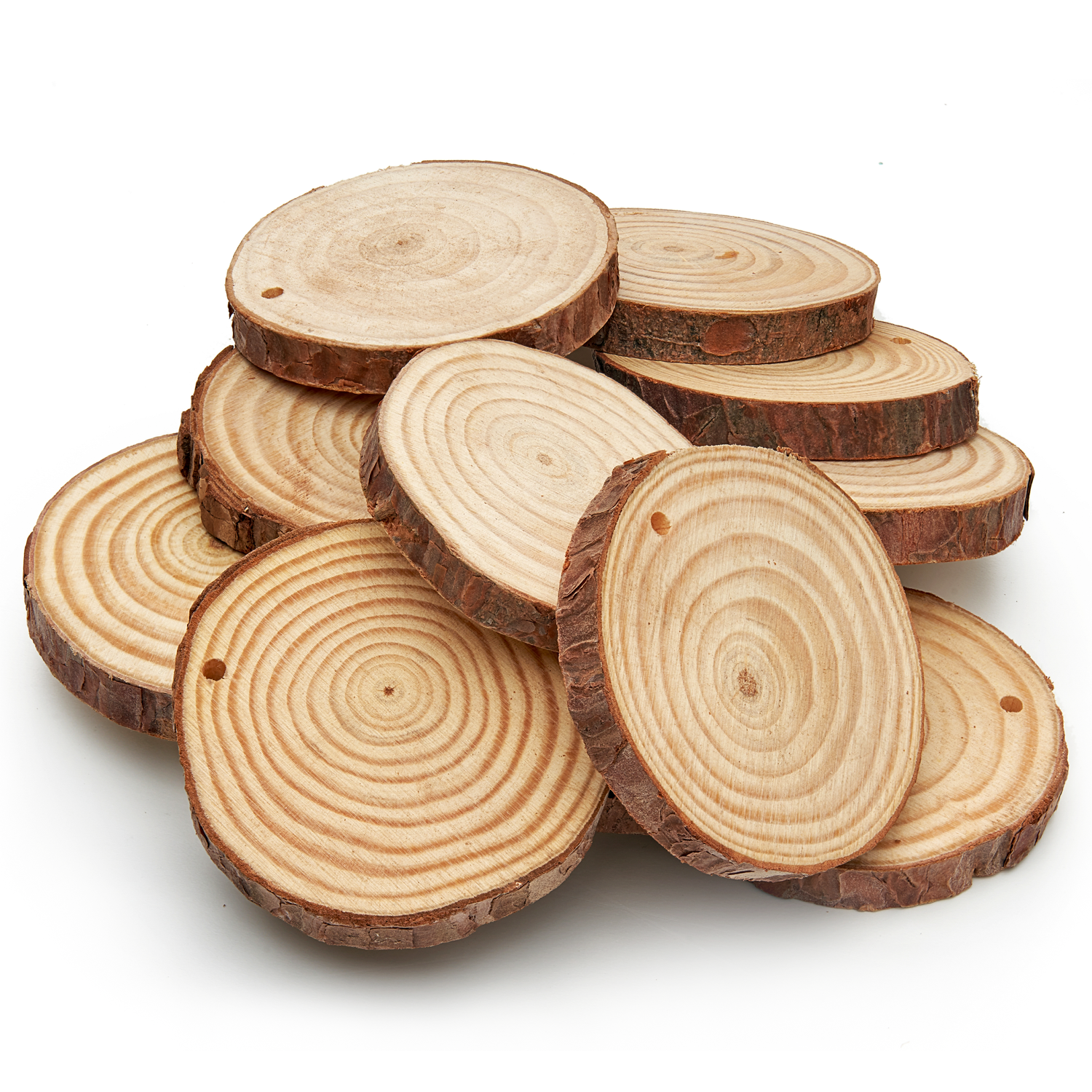 10 pack Wooden Christmas Buttons #2