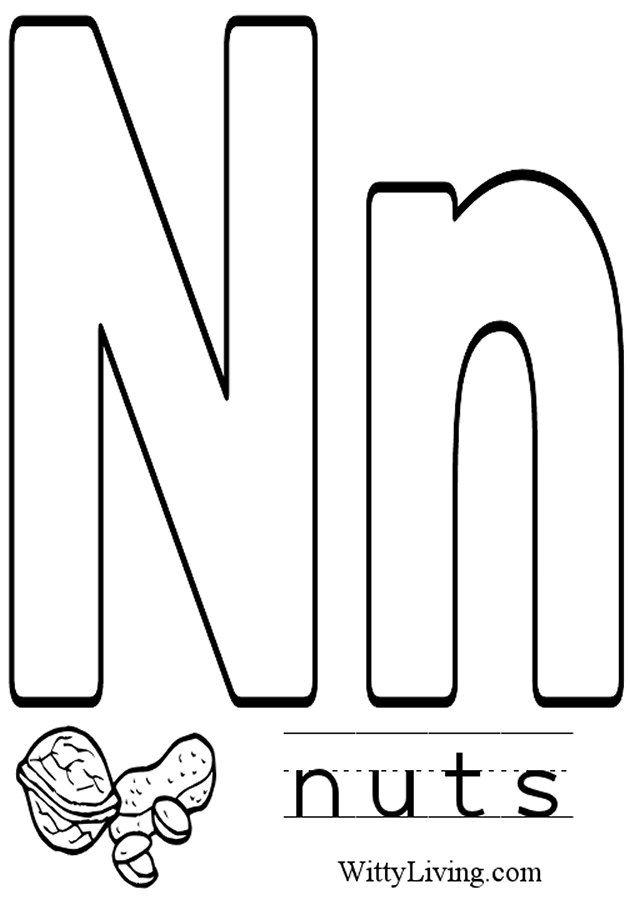 Coloring Pages Letter N Kids Crafts For Kids To Make Coloring Pages For Kids Coloring Pages To Print Lettering Alphabet