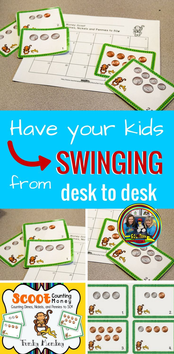 Money Game Scoot Task Cards | Kids moves, Math and Gaming