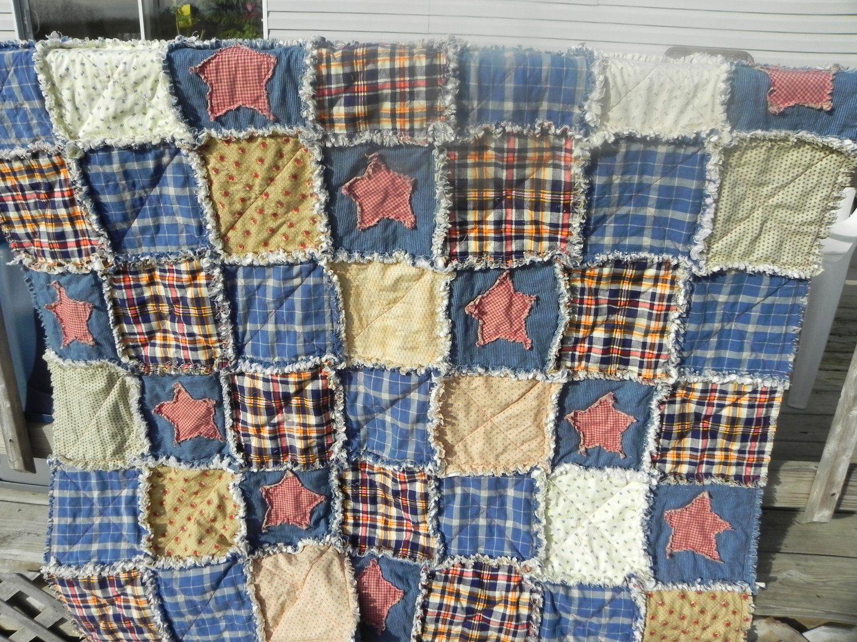 Country Primitive Rag Quilt Rag Quilt Patterns Rag
