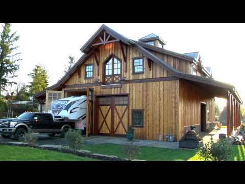 Barn Pros Timber Framed Denali 60 Gable Barn Barn Apartment Barn With Living Quarters Pole Barn Homes