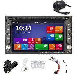 In Dash DVD Car Radio GPS Navigation System Bluetooth iPod CD DVD Player USB HP