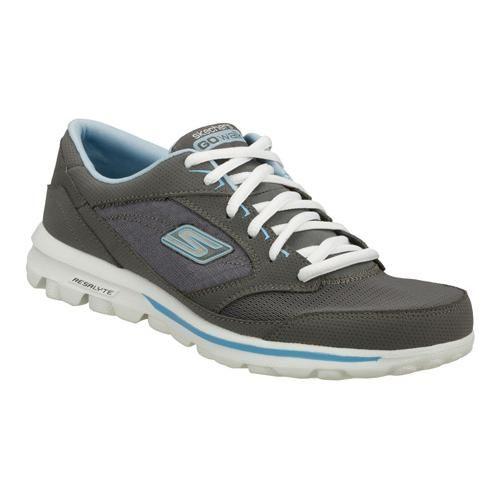 119822a088eb HAVE - Skechers GOwalk 2 Flash Shoes in Gray Blue for Women