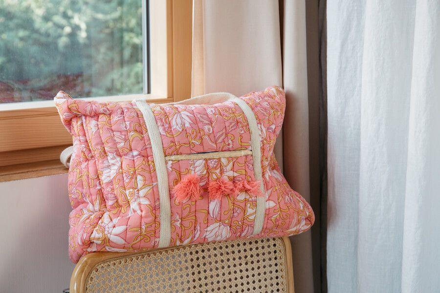 241cb3cb80 Bag Antala Coral flower. Canvas tote bag