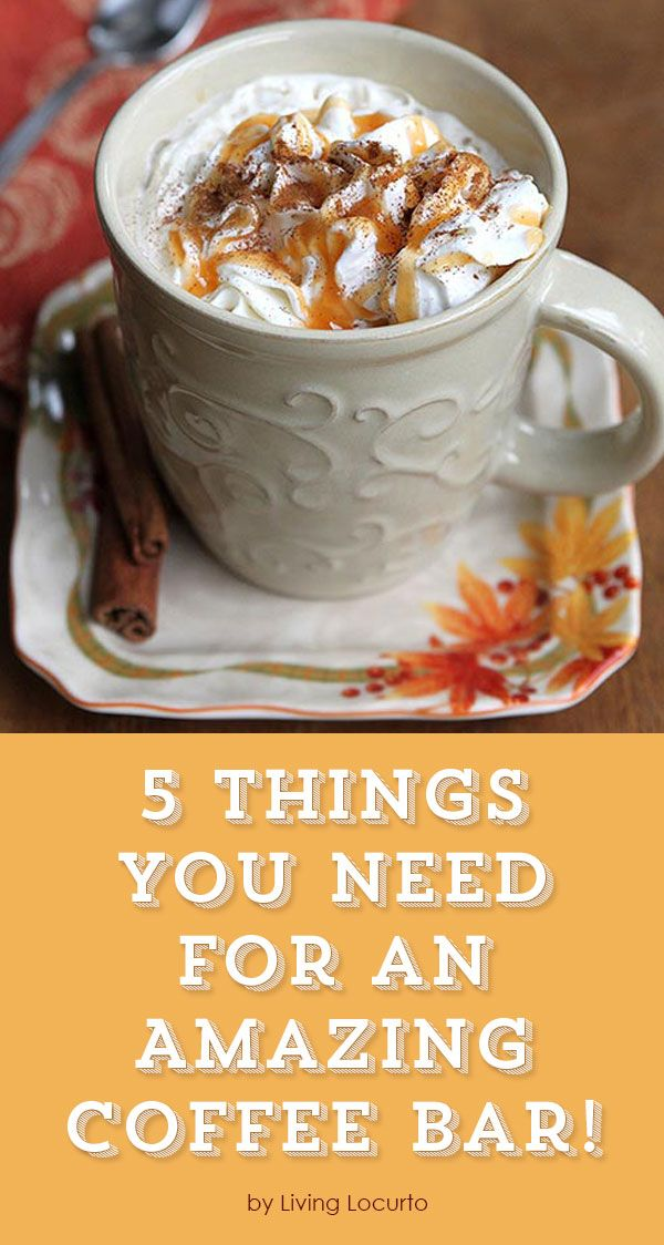5 things you need for a coffee bar for Things in a coffee bar