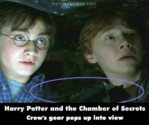 Harry Potter And The Chamber Of Secrets Movie Mistake Picture 18 Movie Mistakes Harry Potter Jokes Chamber Of Secrets