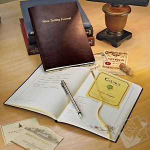 Record every discovery in your wine journey with this Bonded Leather Wine Tasting Journal: $34.95