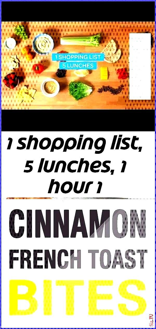 1 shopping list 5 lunches 1 hour 1 1 shopping list 5 lunches 1 hour 1 Charles Wilkinson charlesw203