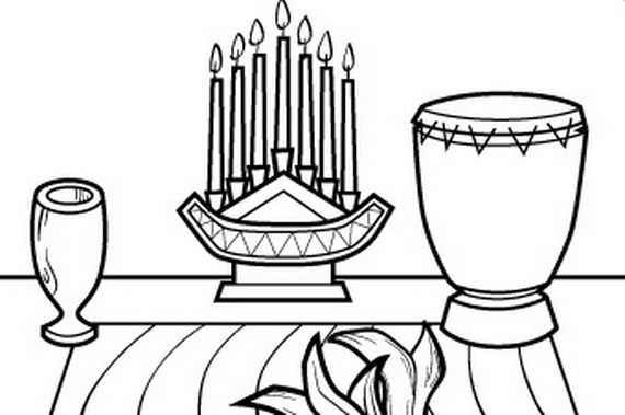 December Holiday Kwanzaa Coloring Pages Kwanzaa Colors December