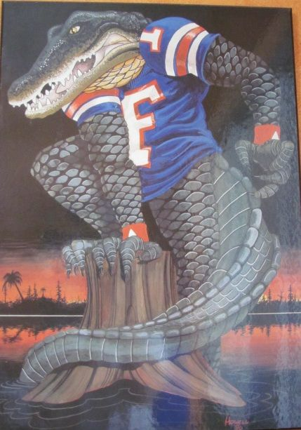 Uf Gator Art On My Wall Florida Gators Wallpaper Florida Gators Football Florida Gators Football Logo