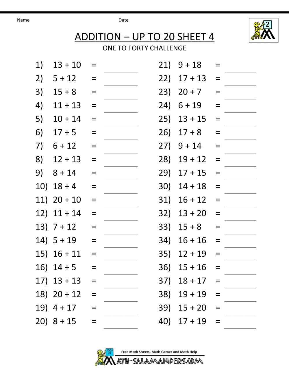 10 2nd Grade Math Facts Worksheets Printable Mental Maths Worksheets 4th Grade Math Worksheets Math Fact Worksheets