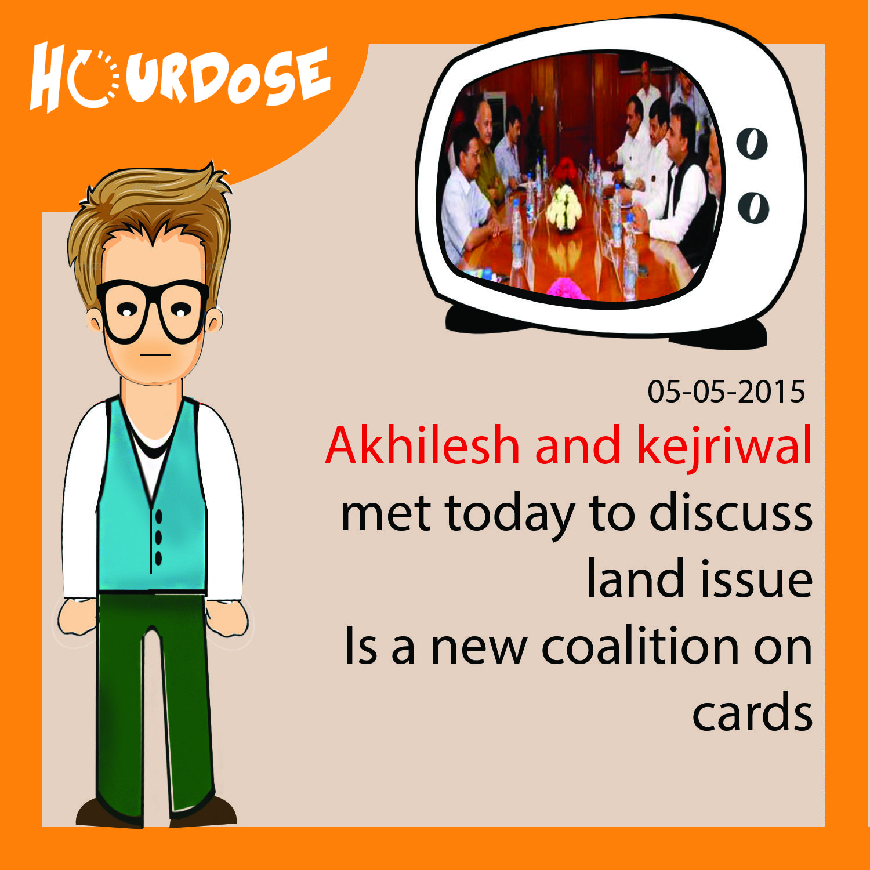 Akhilesh and kejriwal met today