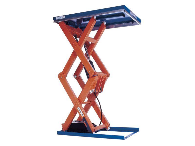 Double vertical scissor lift scissor lift lift table